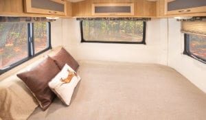 Fiberglass trailer bed