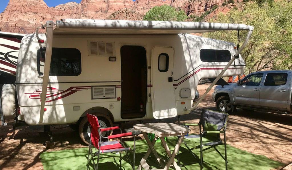 Fiberglass RV campground